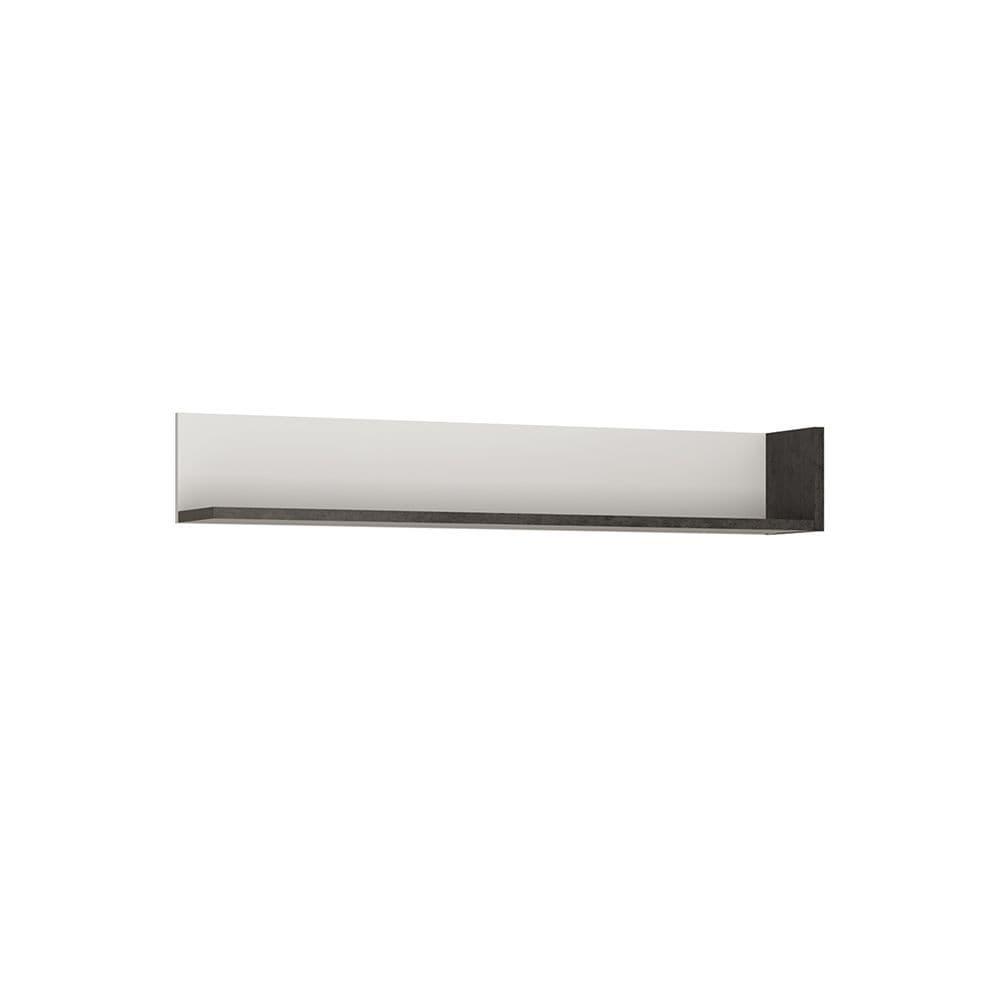 Lagos Wall shelf 133 cm in Slate Grey and Alpine White